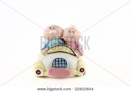 Two Dolls Of Elderly