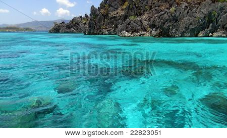 turquoise sea in the Pacific