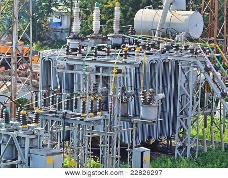 AC substation high voltage