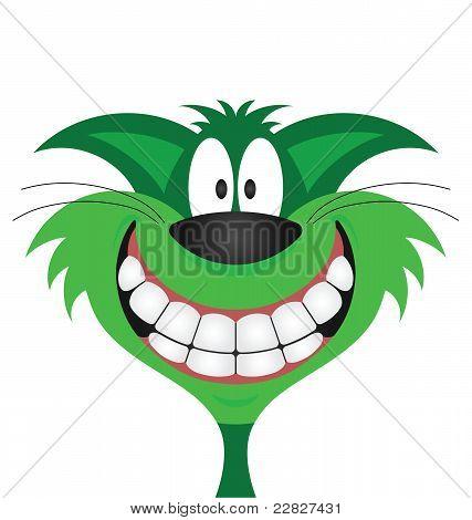 Cat face green