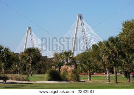 Bridge Behind Golf Course
