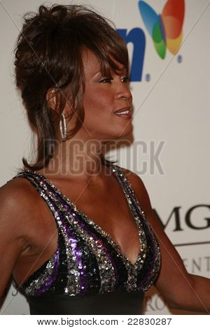 BEVERLY HILLS - FEB 9: Whitney Houston at the Clive Davis Pre-GRAMMY Party 2008 held at the Beverly Hilton Hotel in Beverly Hills, California on February 9, 2008