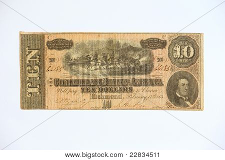 Obsolete ten dollar bill