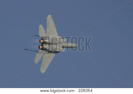 F-15 In Flight In Banking Turn