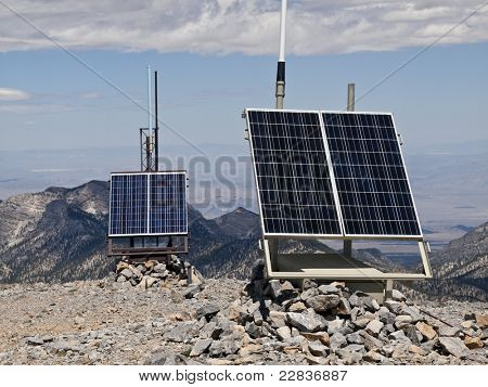 Solar powered weather stations high on 11,916 foot Mt. Charleston.  30 miles from Las Vegas, Nevada, in the Spring Mtns National Forest.