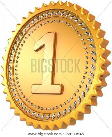 Medalla de oro primer lugar Premio de diseño