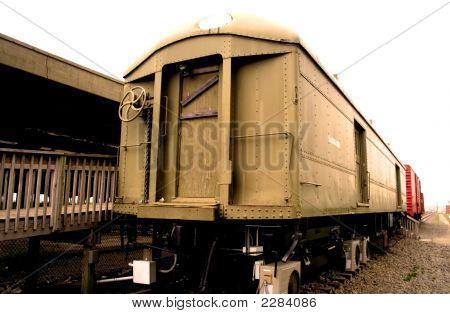 Compartimentos do trem velho