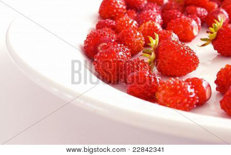 The Sector Of The Plate, With Strawberries.