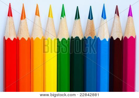 Varicoloured Pencils.