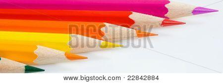 Crayons Horizontally.