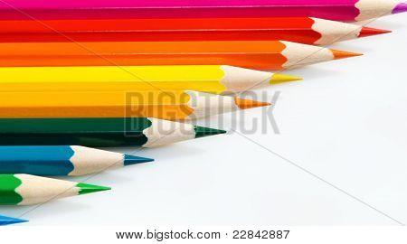 Diagonal, Crayons.