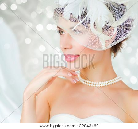 Bride portrait.Wedding dress