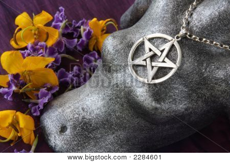 Female Form And Pentacle Symbol