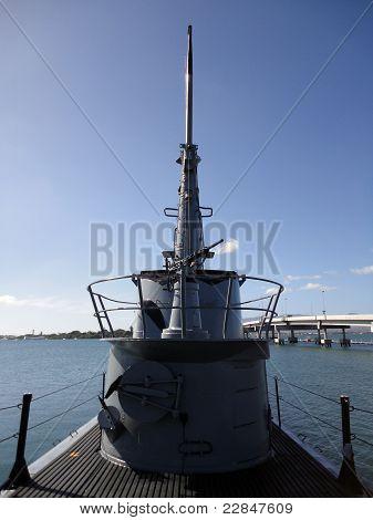 Gun On Deck Of The Bowfin Submarine