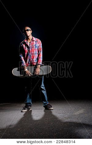 Cool Skateboarder Dude Posing