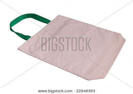 White Cotton Bag Isolated On White Background.