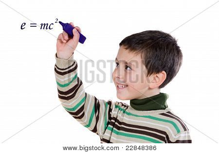 Adorable Child Writing