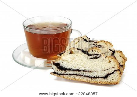 Cup Of Tea With A Papaverous Roll