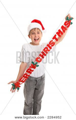Merry Christmas Child With Decoration