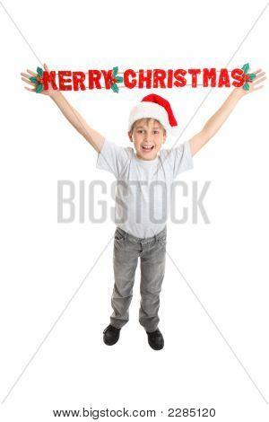 Christmas Child With Joyful Message