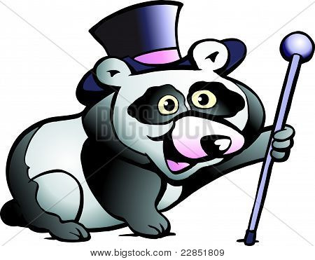 Hand-drawn Vector Illustration Of An Panda Bear