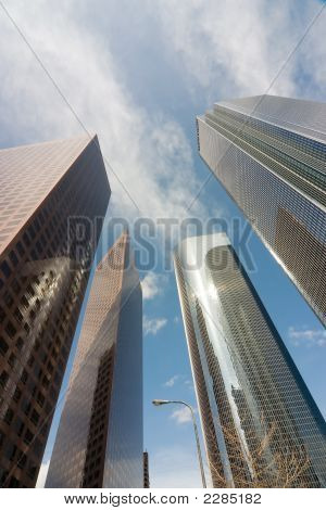 Los Angeles Downtown Buildings Vertical