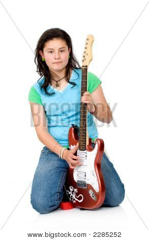 Girl With Aan Electric Guitar
