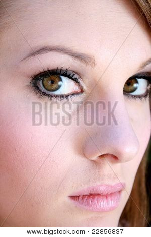 Close Up Of A Beautiful Young Lady