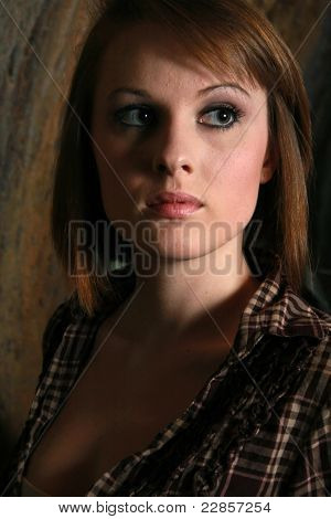 A Young Woman In Shadows