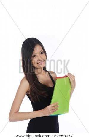 Asian Career Woman From The Office Isolated