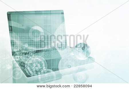 Network Security as a Art Abstract Background