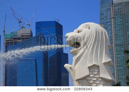Merlion spray water