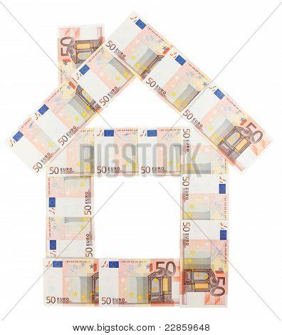 50 Euro Notes House