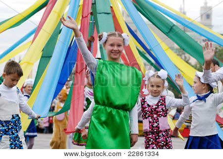 Children With May Pole