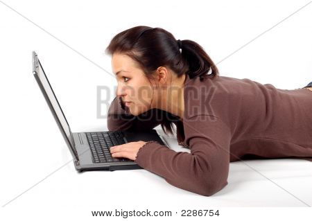 Woman Working On Laptop #21