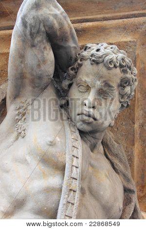 Estatua del esclavo africano