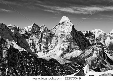 Ama Dablam In Black & White