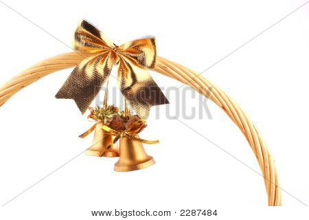 Golden Bells Attached To The Grip Of Basket
