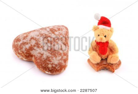 Teddy Bear And Honey-Cake