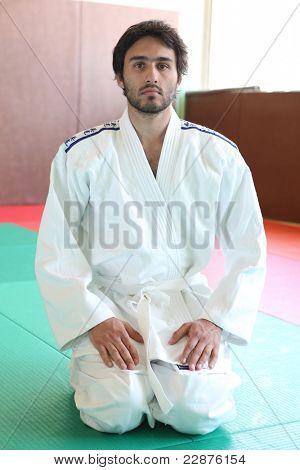 judoka on tatami