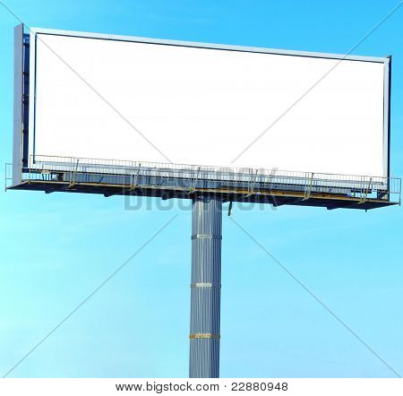 Street Board white Canvas Outdoor Advertising