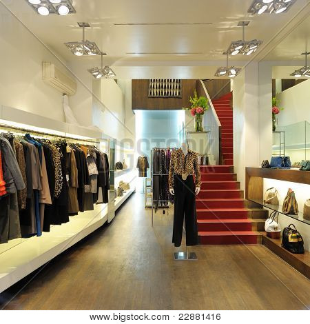 Interior Of A Boutique Store