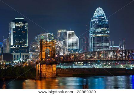 Skyline von Cincinnati.