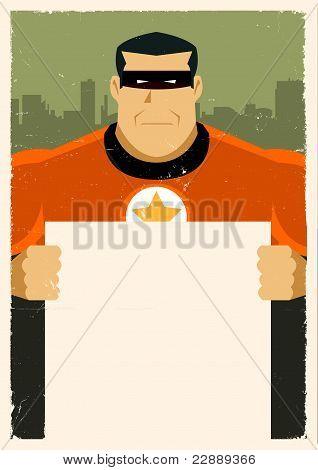 Grunge Urban Super Hero Ad Sign