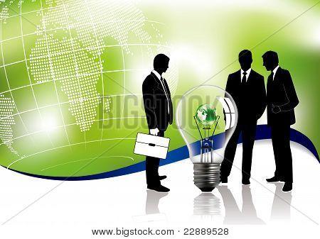 Concepto de reunión de negocios sobre Ecología Global