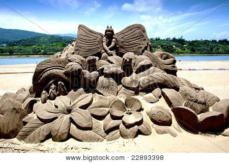Flora Fairy Maiden Sand Sculpture