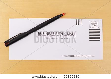 First Class Business Reply Envelope