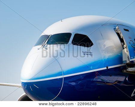 Nose of 787 Boeing Dreamliner