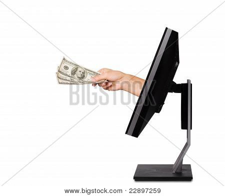 Monitor with hand