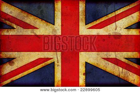 Grunge Union Jack Illustration